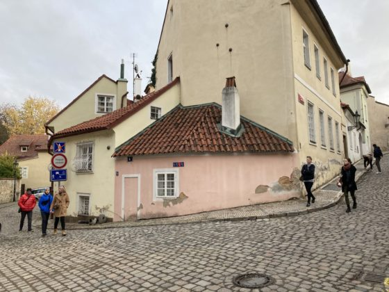 Probably the smallest house in Prague.